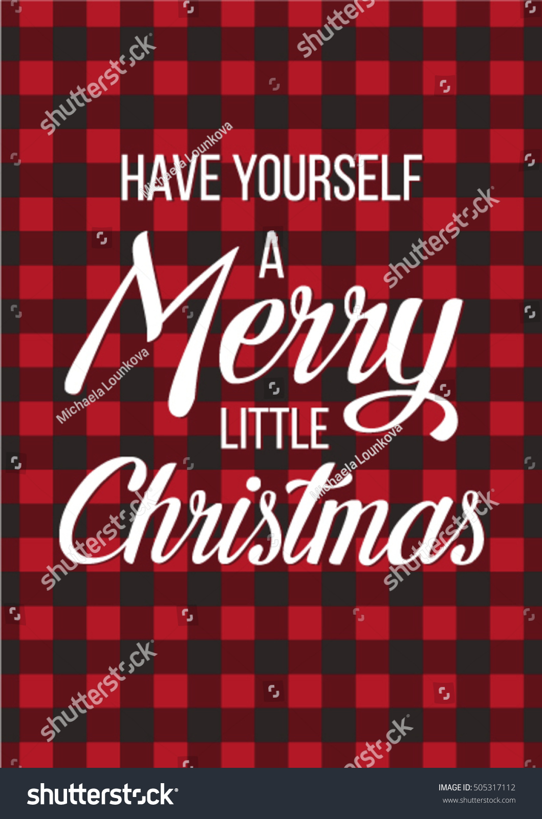 Christmas Red Vector Scottish Plaid Greeting Stock Vector Royalty