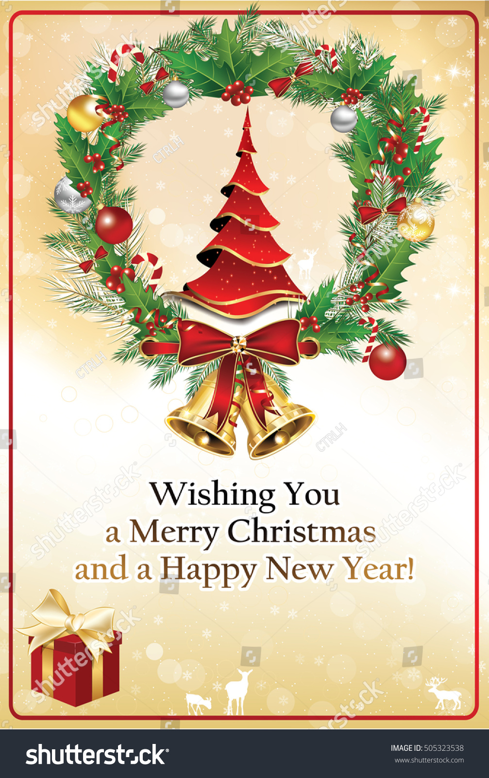 christmas new year greeting card christmas stock illustration