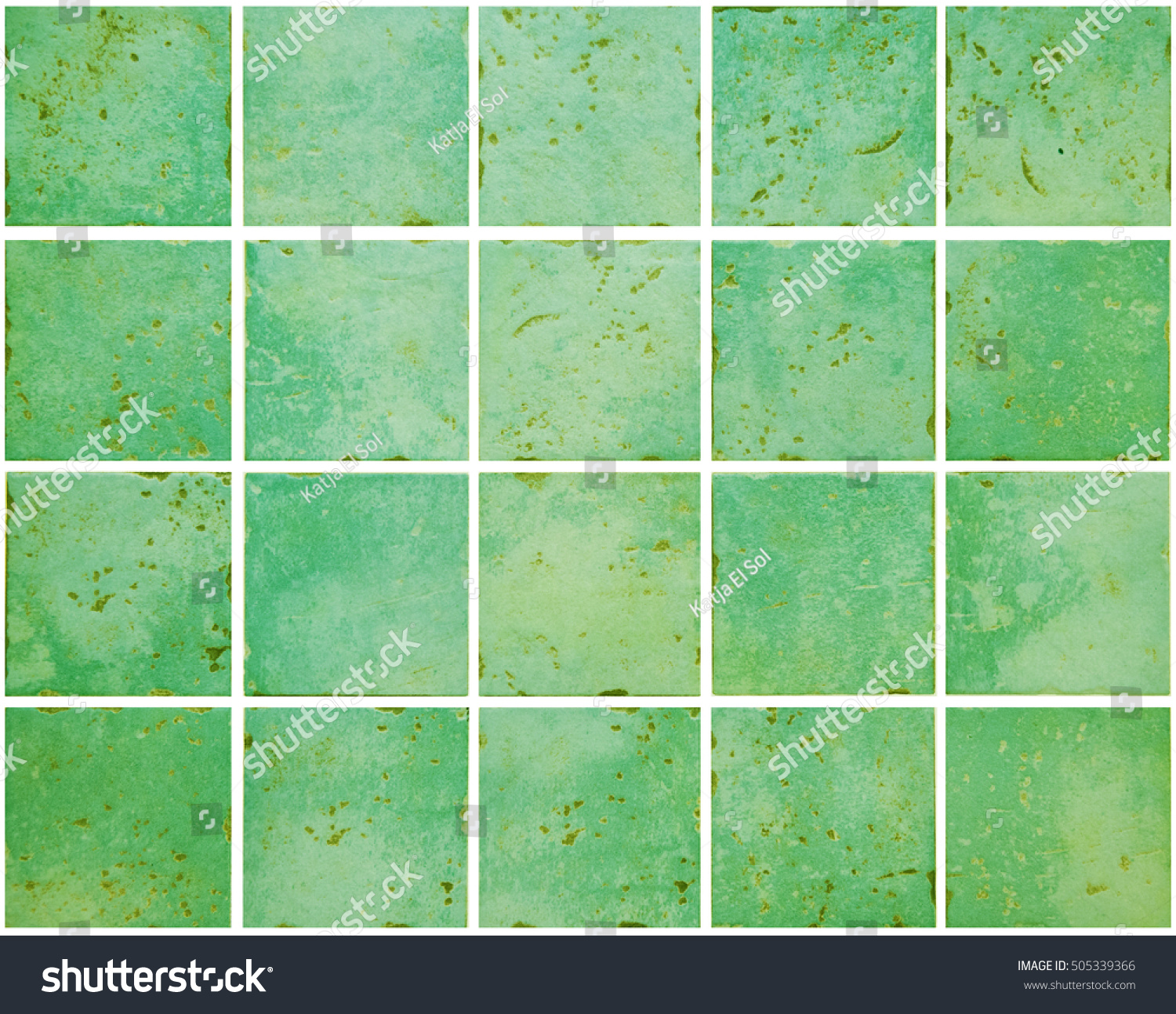 Wall green colored ceramic tiles vintage stock photo 505339366 wall of green colored ceramic tiles in vintage style kitchen decoration dimension of square dailygadgetfo Images