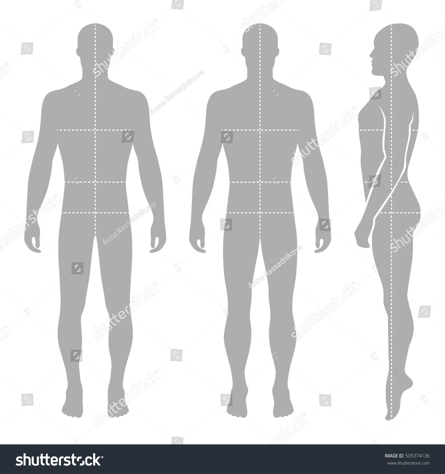 Fashion Bald Man Full Length Template Stock Illustration 505374136 ...