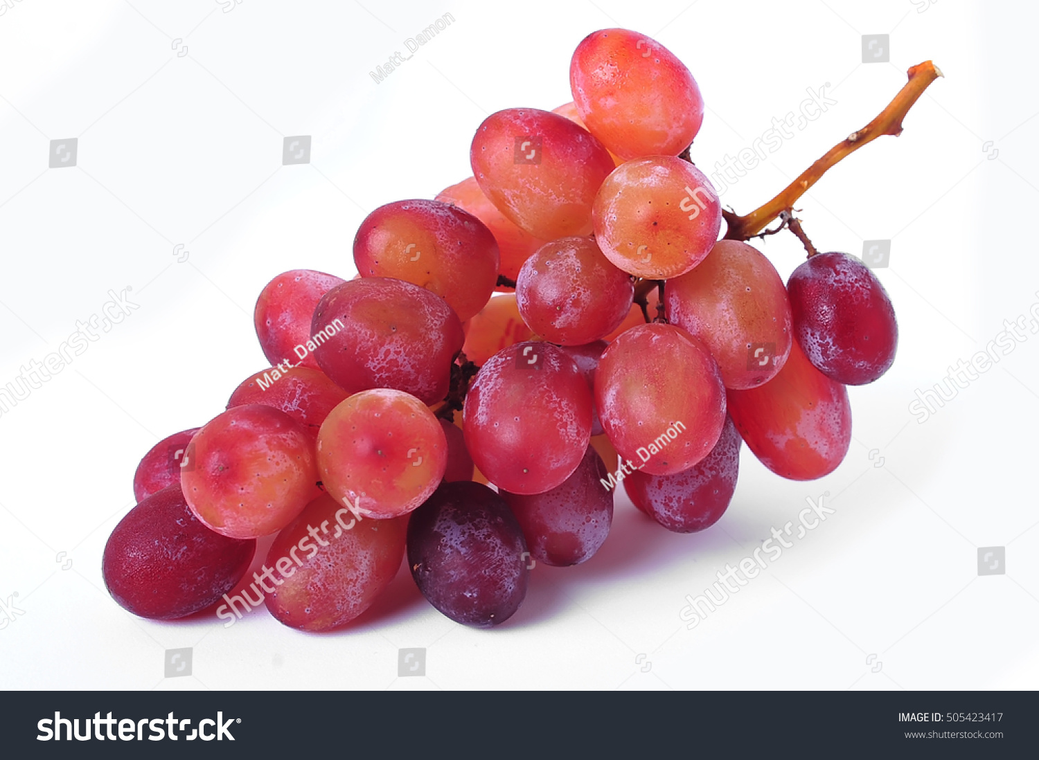 Fresh Red Grapes Isolated On White Stock Photo Edit Now 505423417
