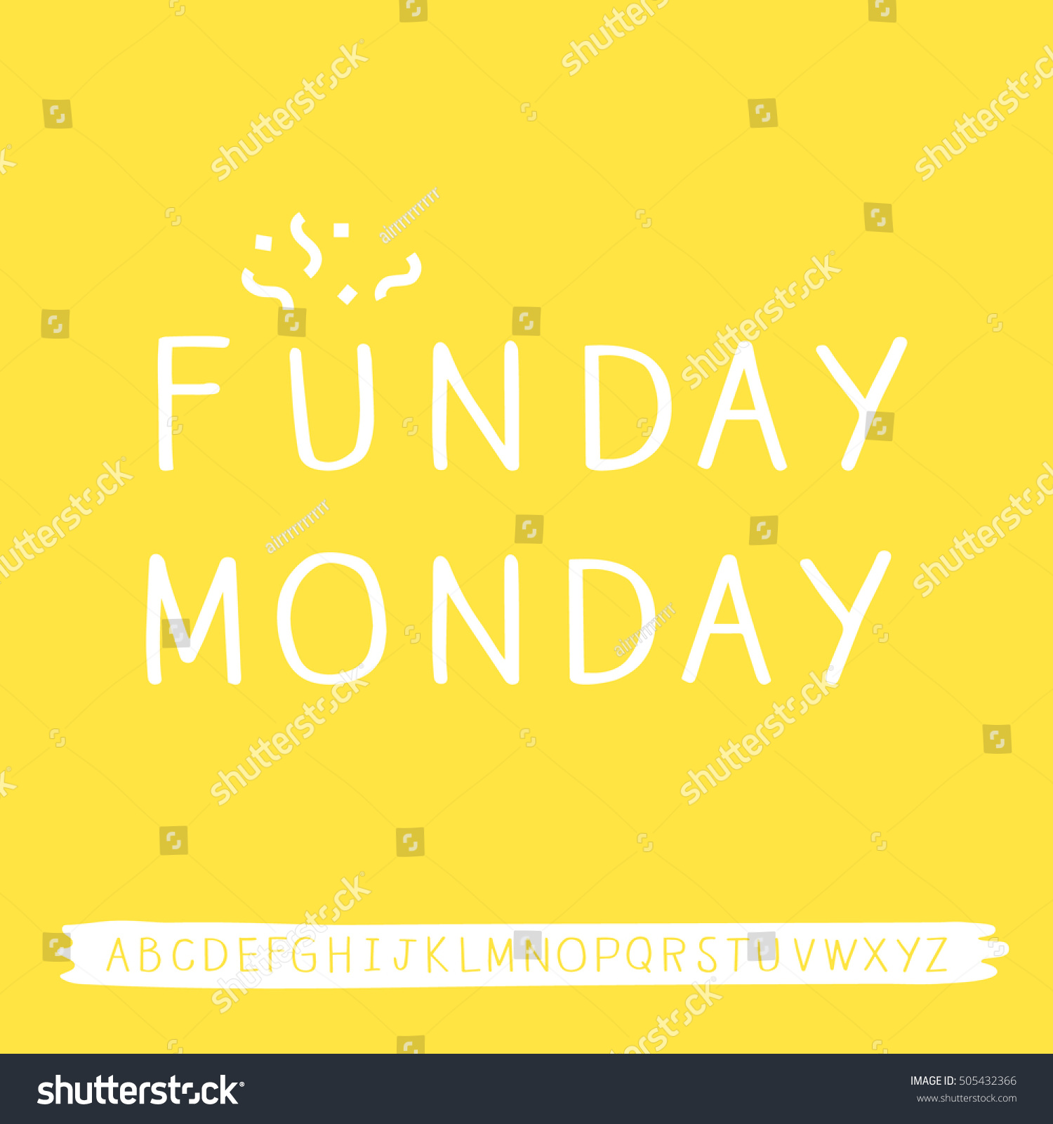 Monday quotes cute handwritten font isolated stock vector monday quotes with cute handwritten font isolated voltagebd Gallery