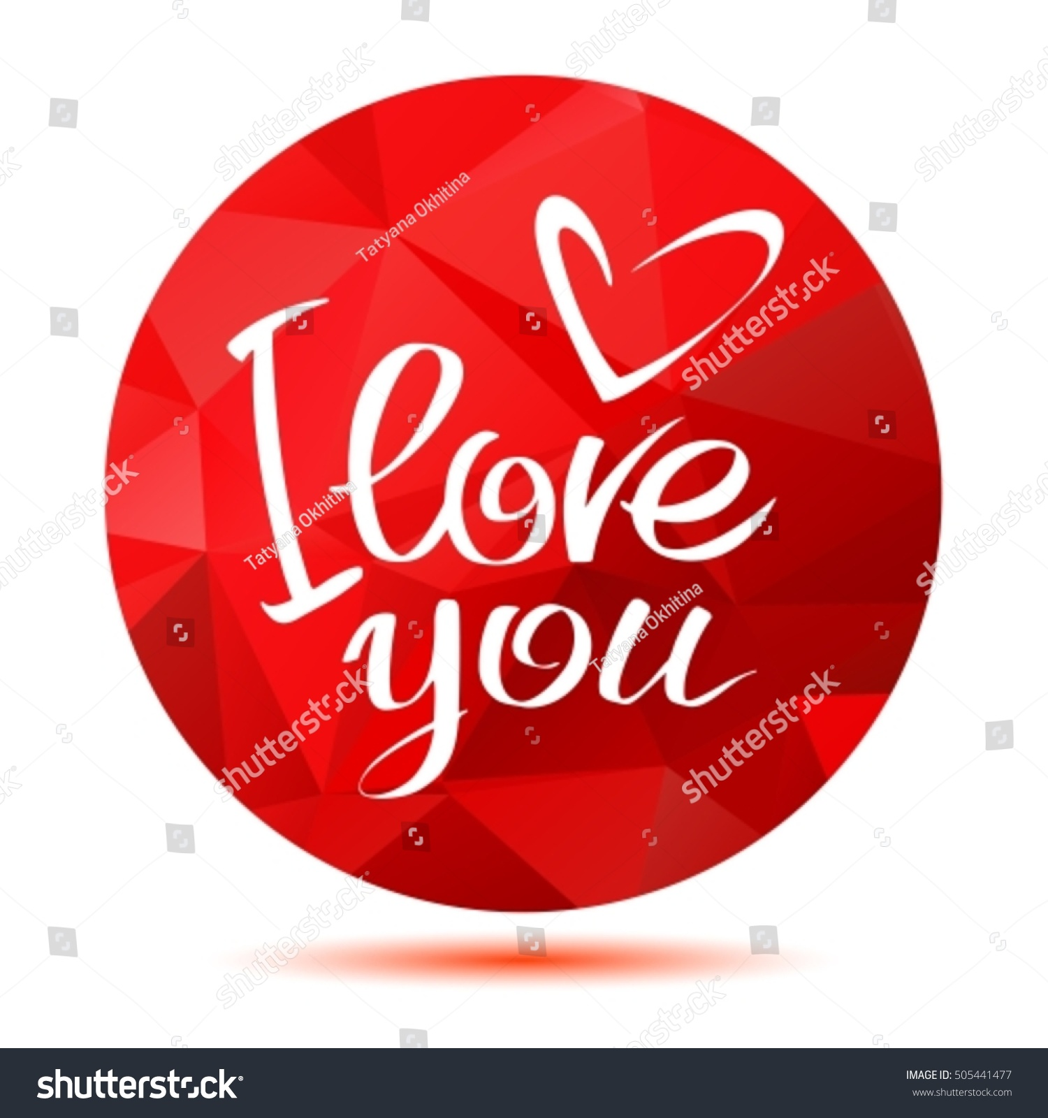 Love You Letters Heart Red Stock Vector Shutterstock