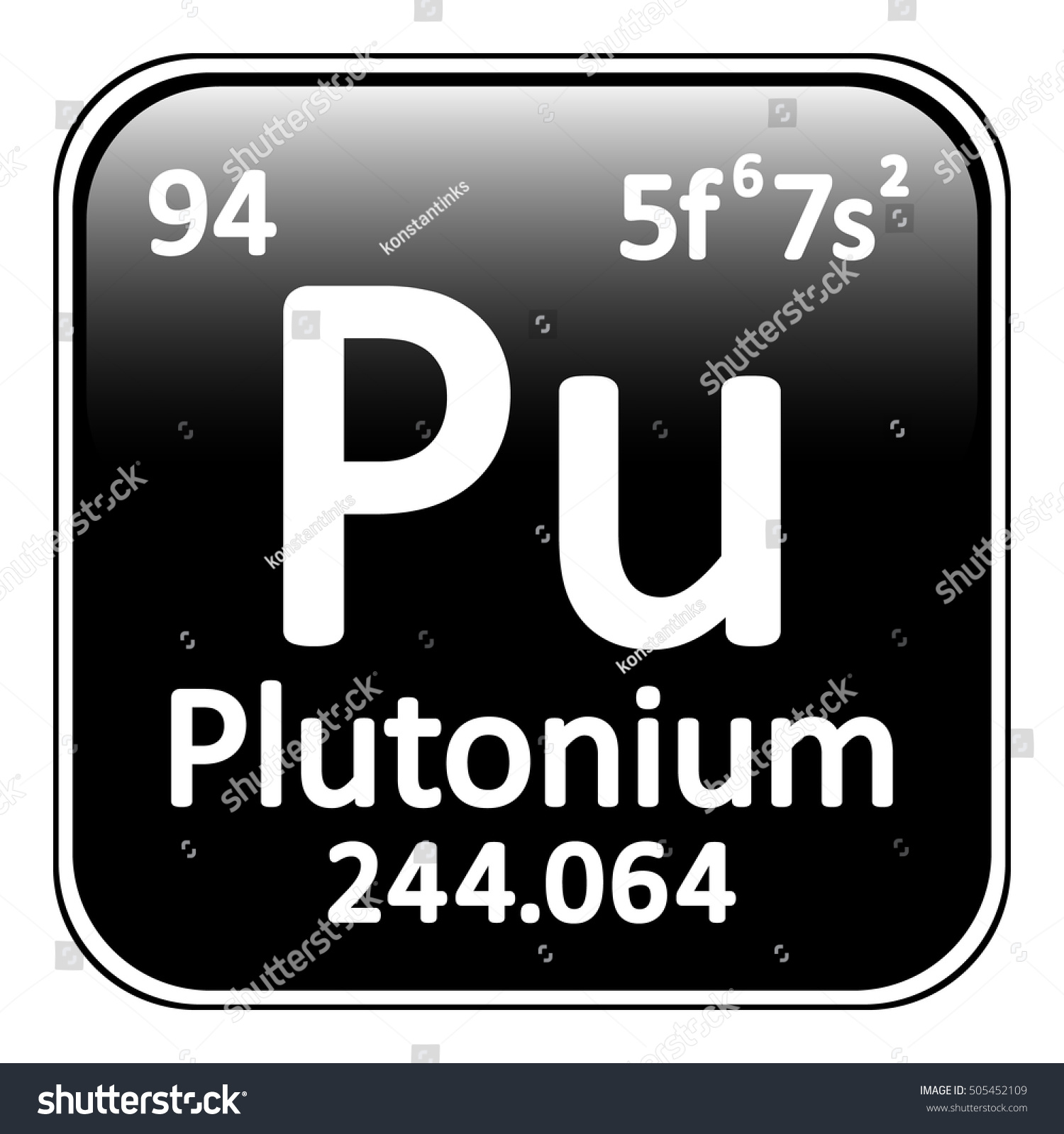 Periodic table element plutonium icon on stock vector 505452109 periodic table element plutonium icon on white background vector illustration gamestrikefo Image collections