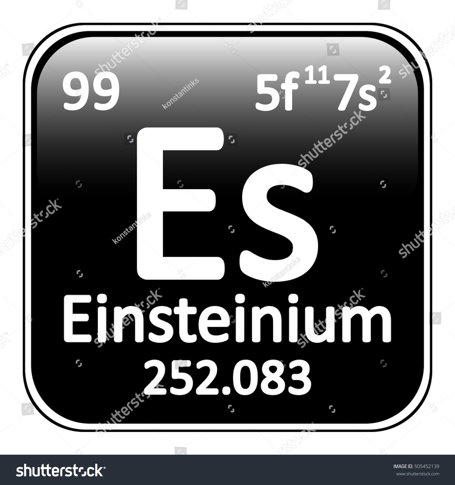 Periodic table element einsteinium icon on stock vector 505452139 periodic table element einsteinium icon on white background vector illustration gamestrikefo Images