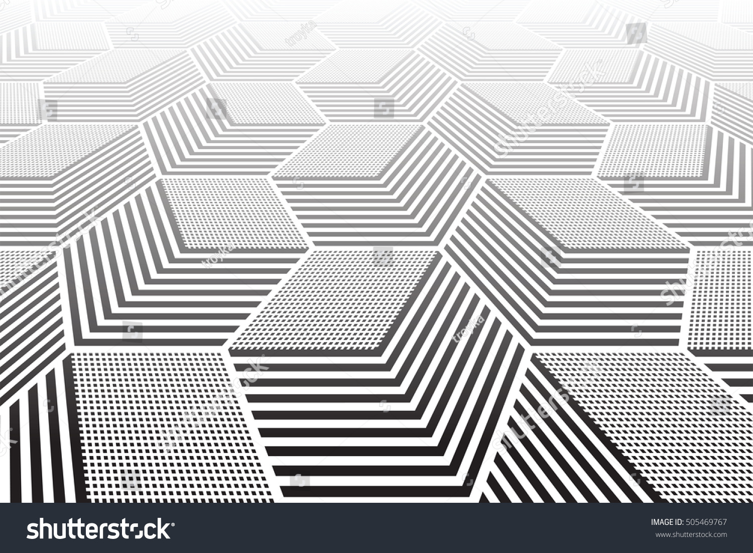 Abstract geometric background 3d illusion vector stock for Geometric illusion art