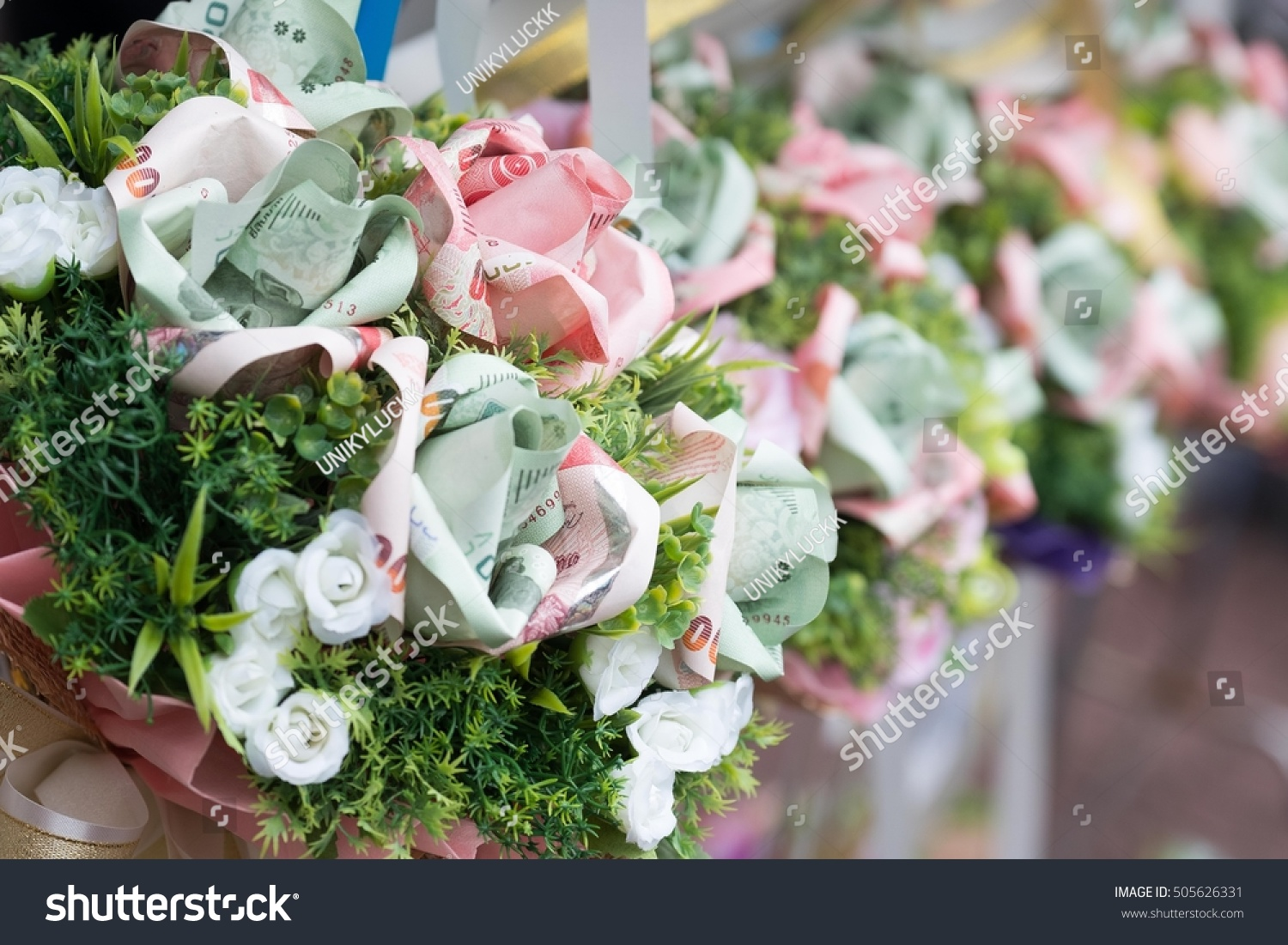 Bouquet Colorful Thai Money Flowers Stock Photo & Image (Royalty ...