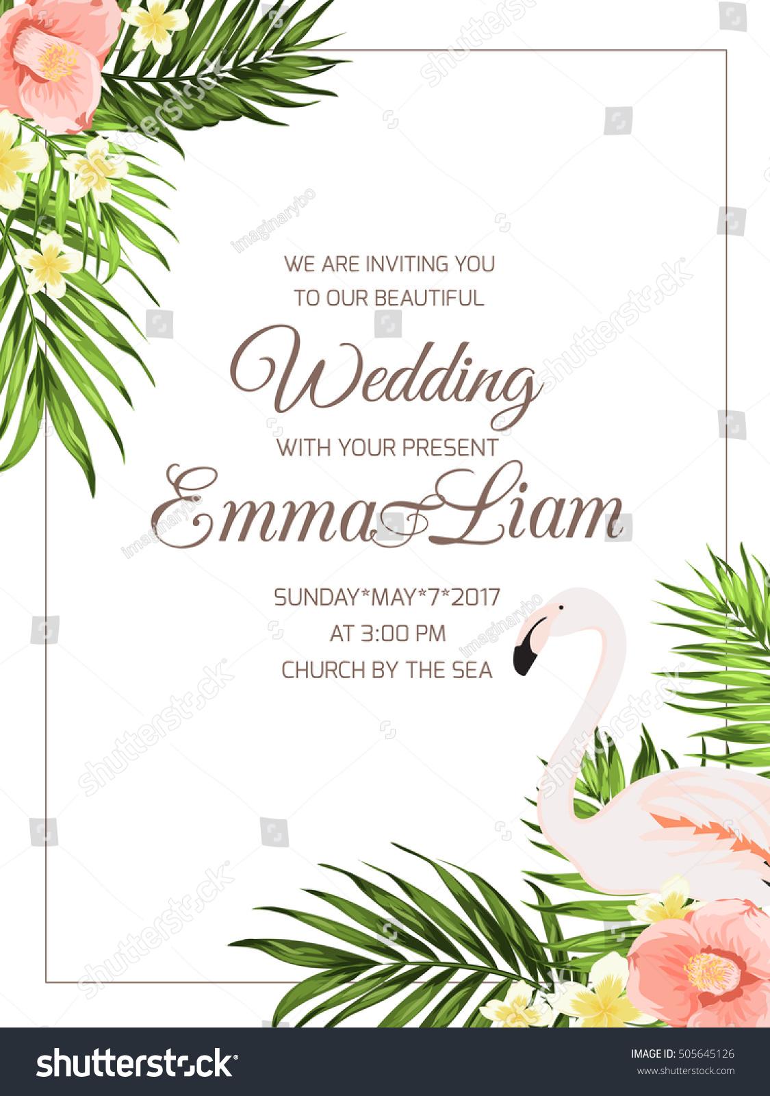 wedding ceremony invitation template text placeholder のベクター
