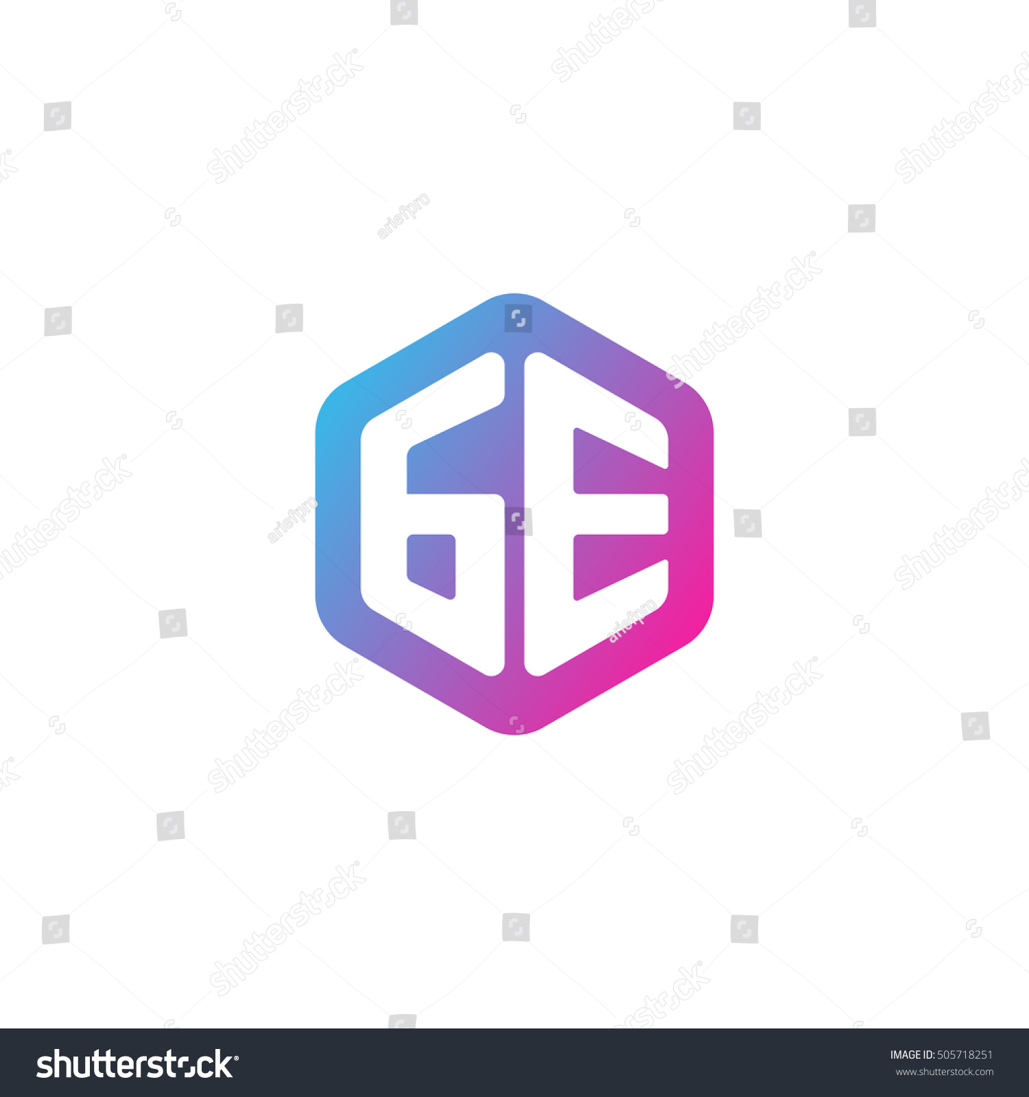 Initial letters ge rounded hexagon shape stock vector 505718251 initial letters ge rounded hexagon shape blue pink purple simple modern logo biocorpaavc Gallery