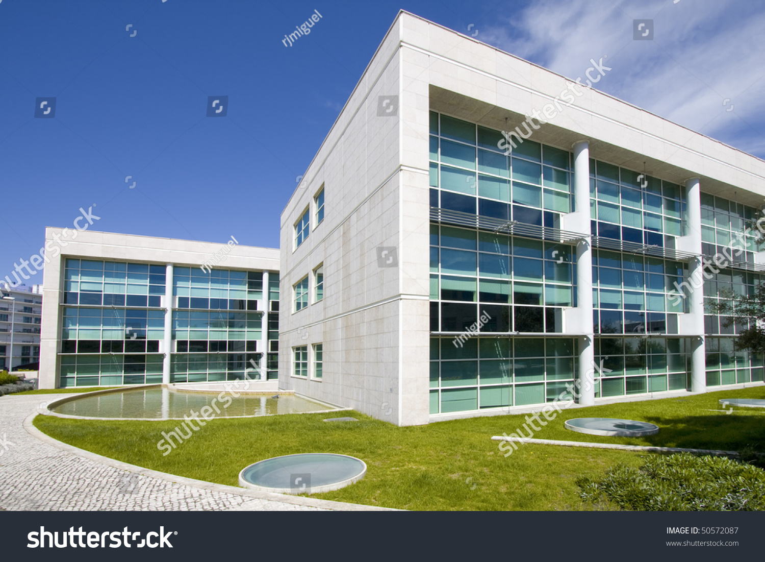 Cityscape office buildings modern corporate architecture for Modern office building design concepts