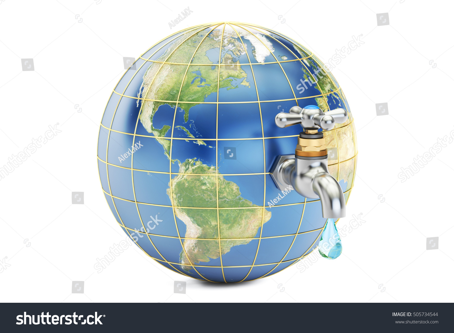 Save water save earth concept 3d stock illustration 505734544 save water save earth concept 3d rendering isolated on white background elements of ccuart Choice Image