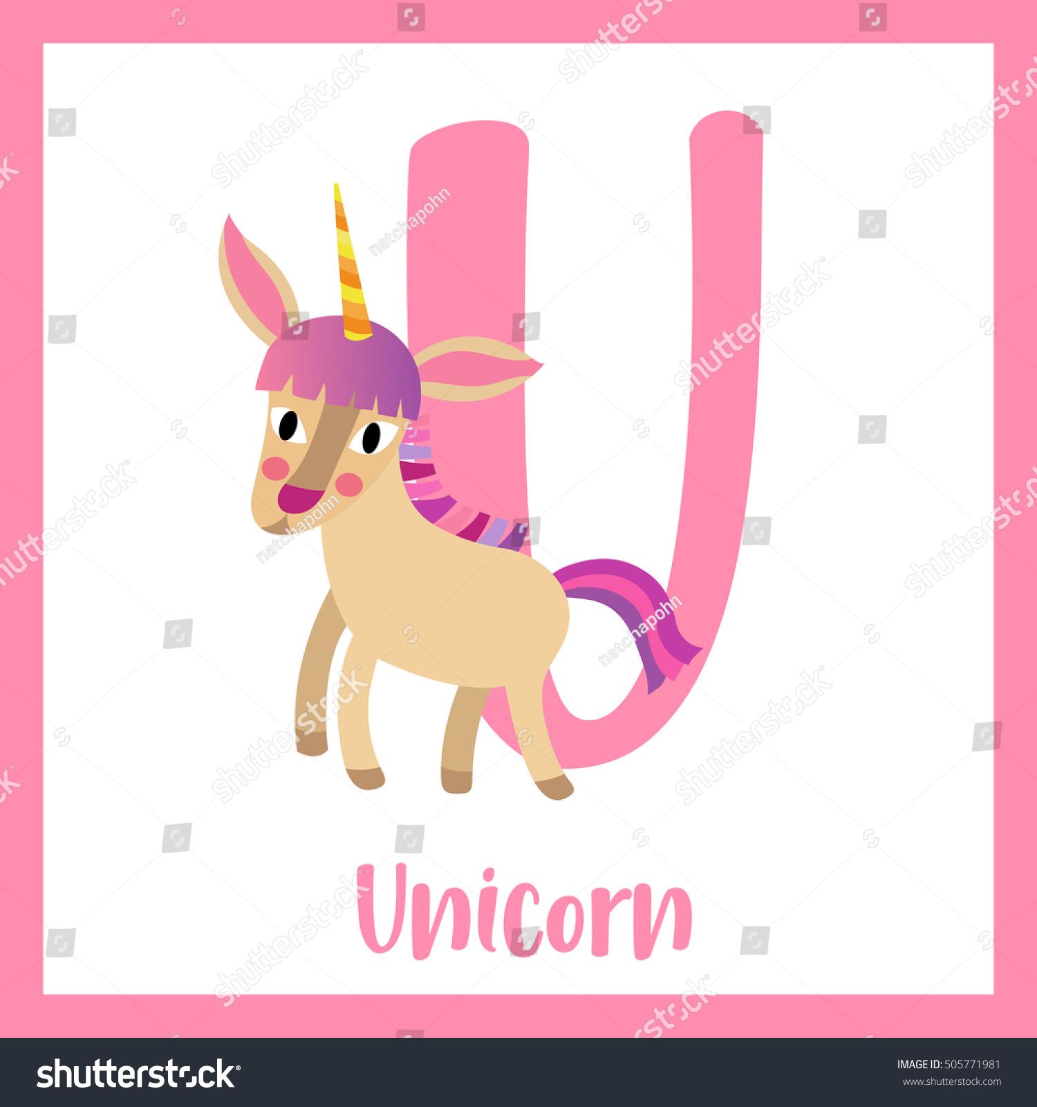 Cute Children ABC Animal Alphabet U Stock Vector (Royalty Free ...