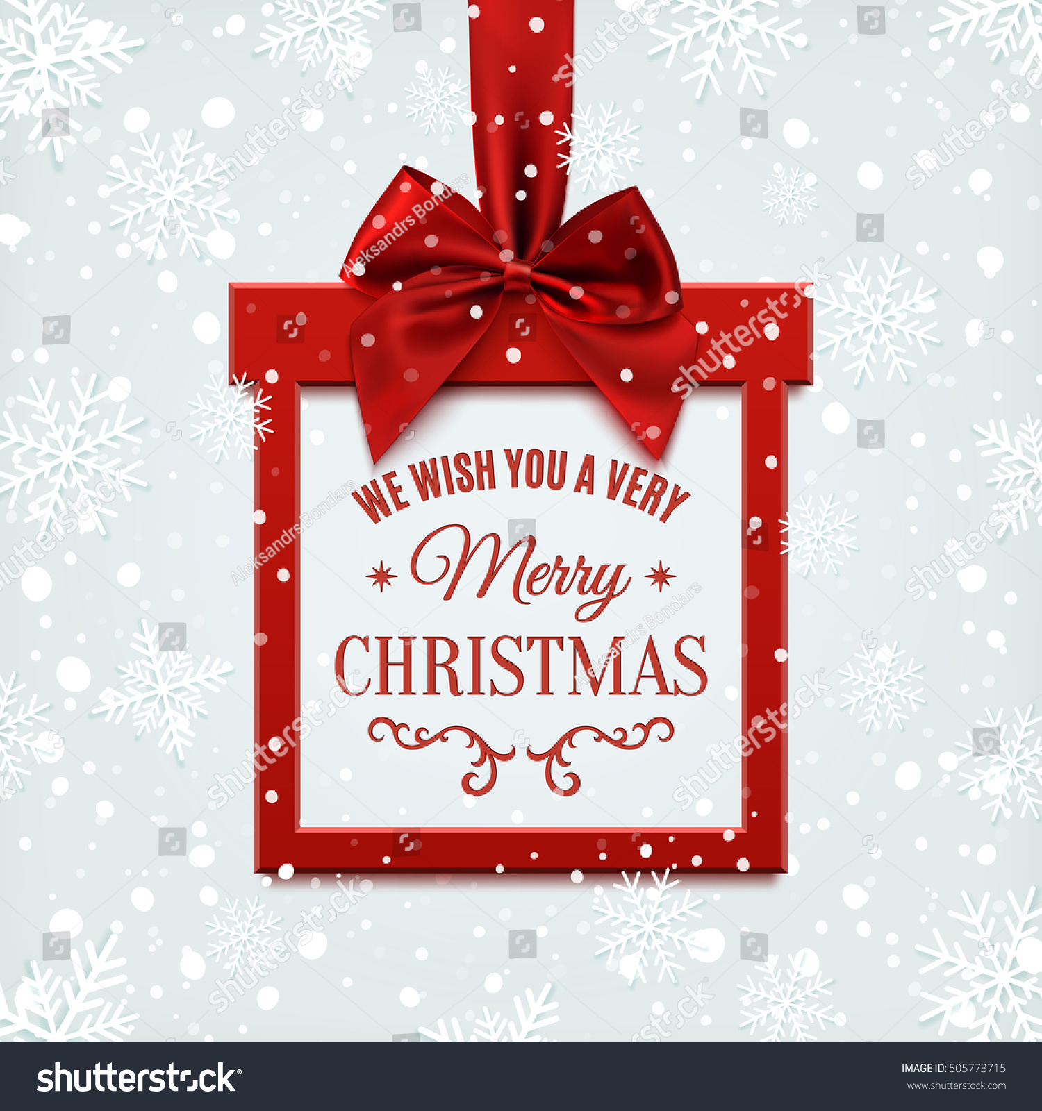 We Wish You Very Merry Christmas Stock Vector (Royalty Free ...