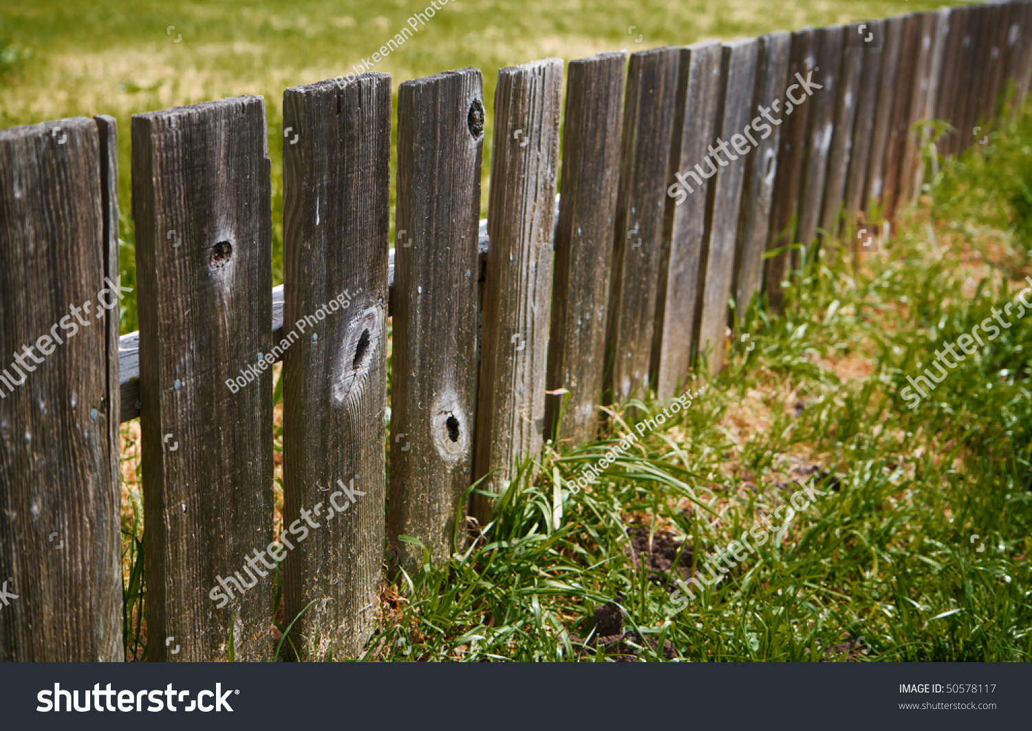 Short redwood fence diminishing distance stock photo 50578117 short redwood fence diminishing to distance baanklon Gallery