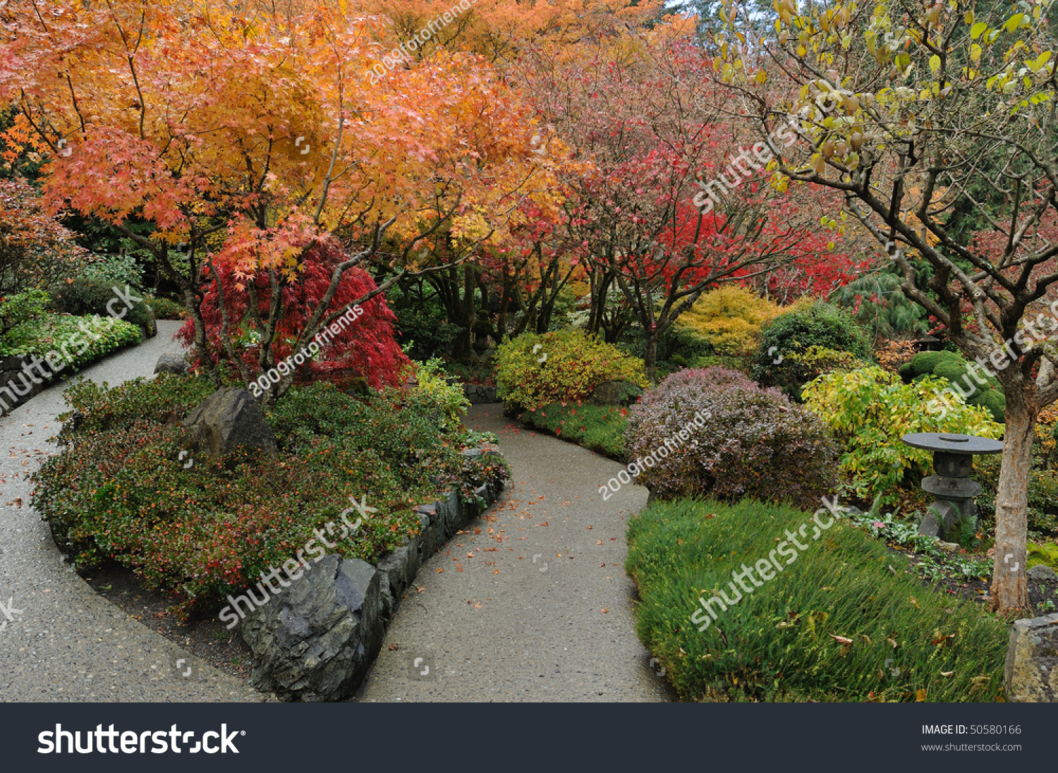 Autumnal Look Japanese Garden Inside Famous Stock Photo (Edit Now ...
