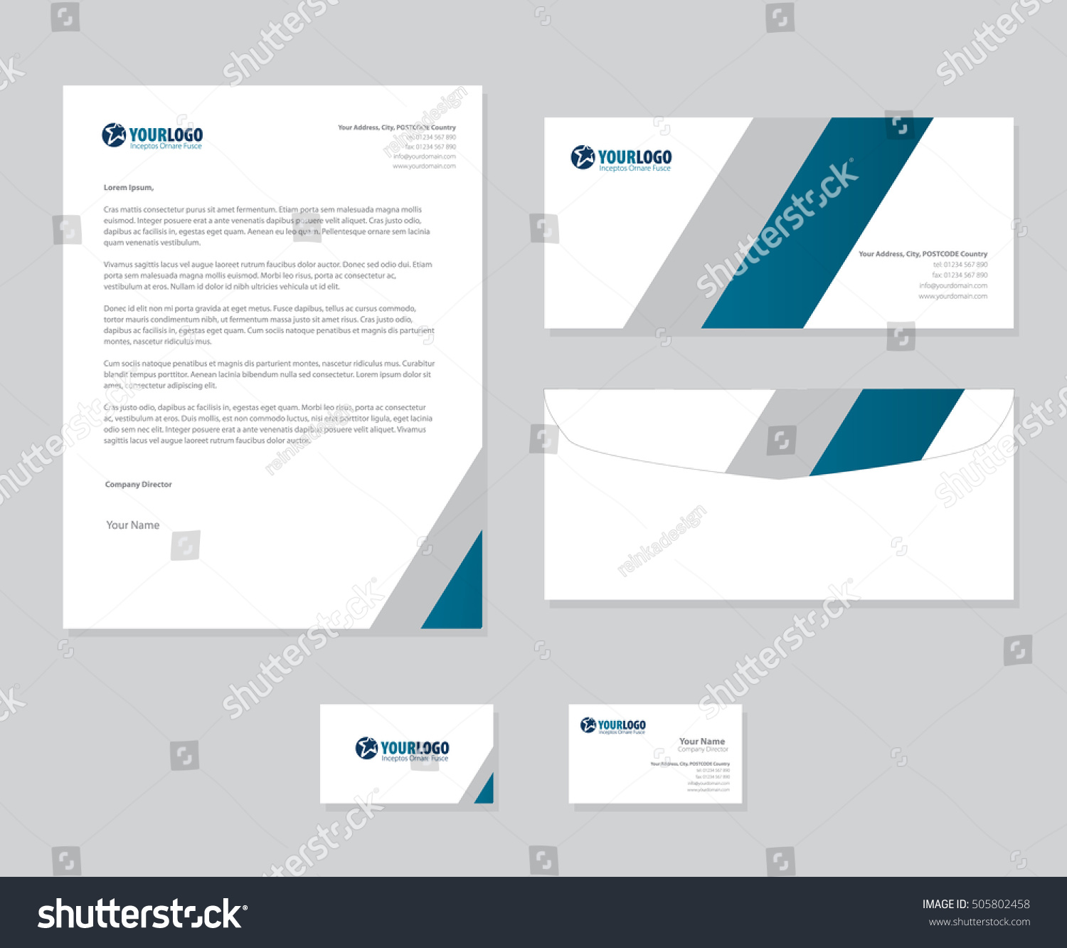 Corporate stationery template design ez canvas cheaphphosting Images