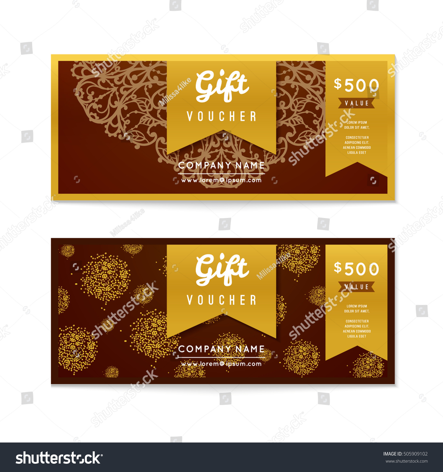 Voucher template applicable pictures gift termination letter voucher gift certificate coupon template floral stock vector stock vector voucher gift certificate and coupon template yadclub Image collections