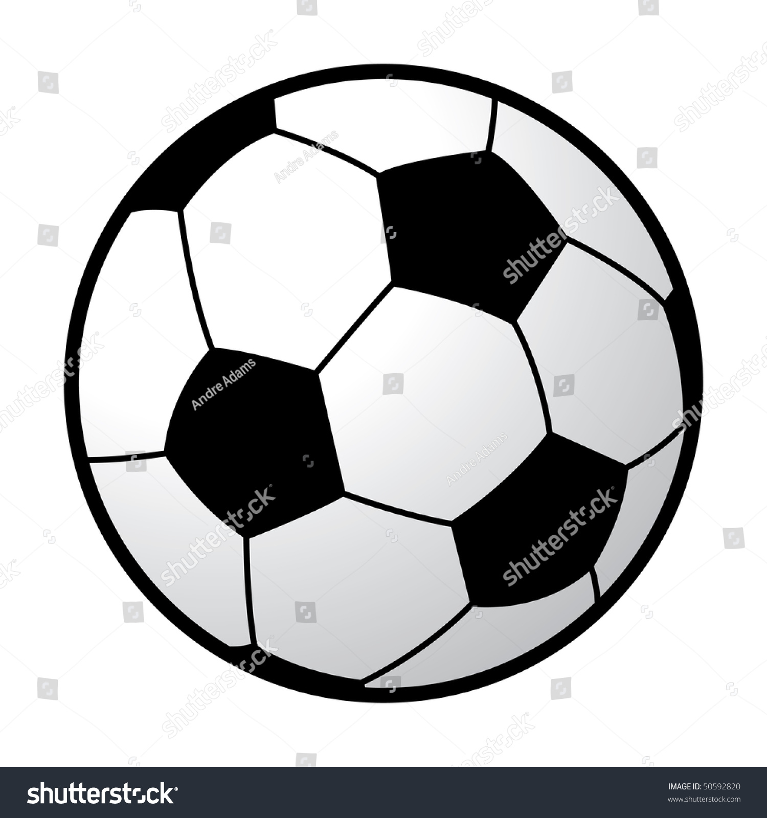 cartoon vector illustration soccer ball stock vector 50592820