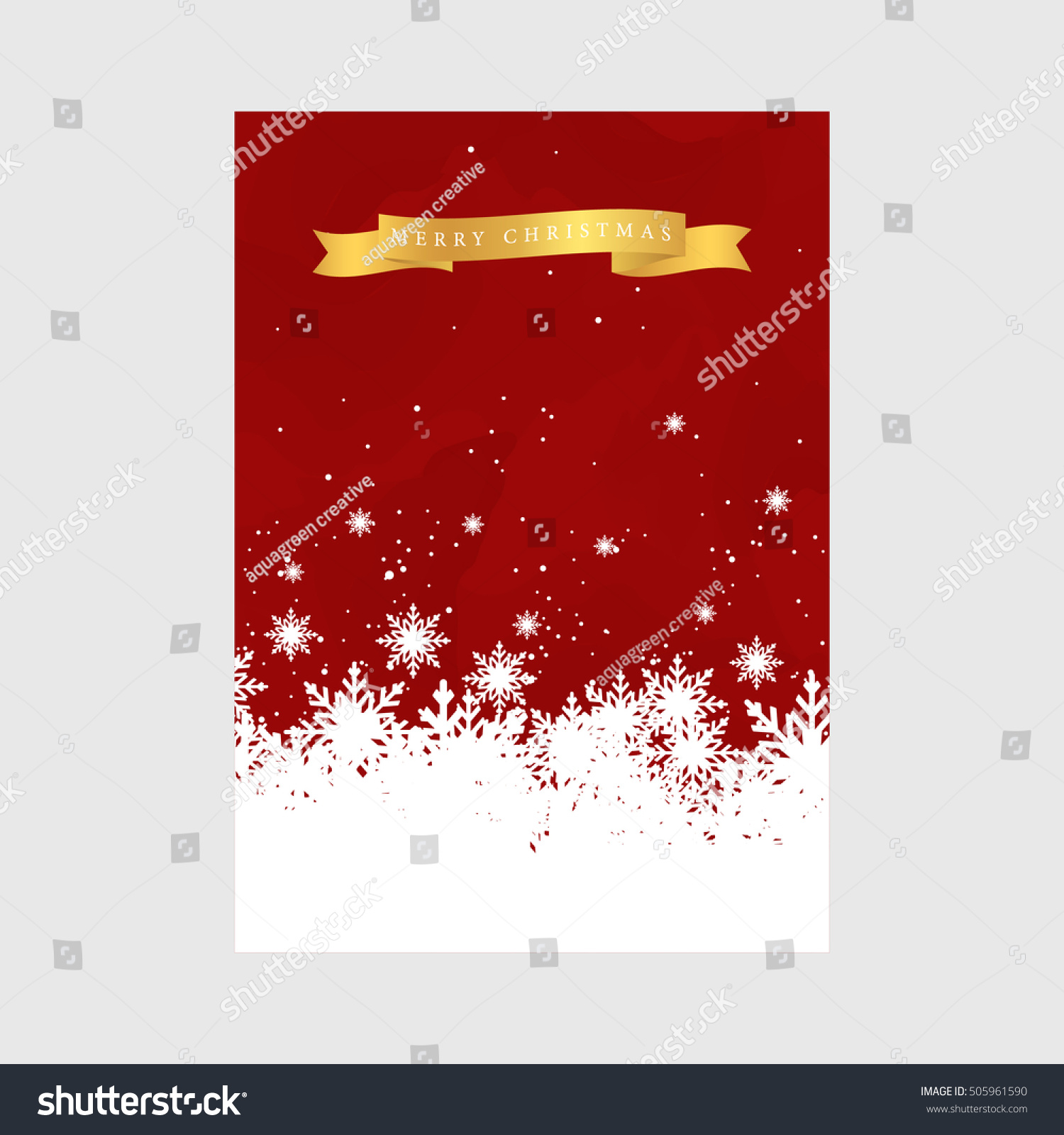 Christmas Greeting Cards Template Stock Vector 505961590 Shutterstock