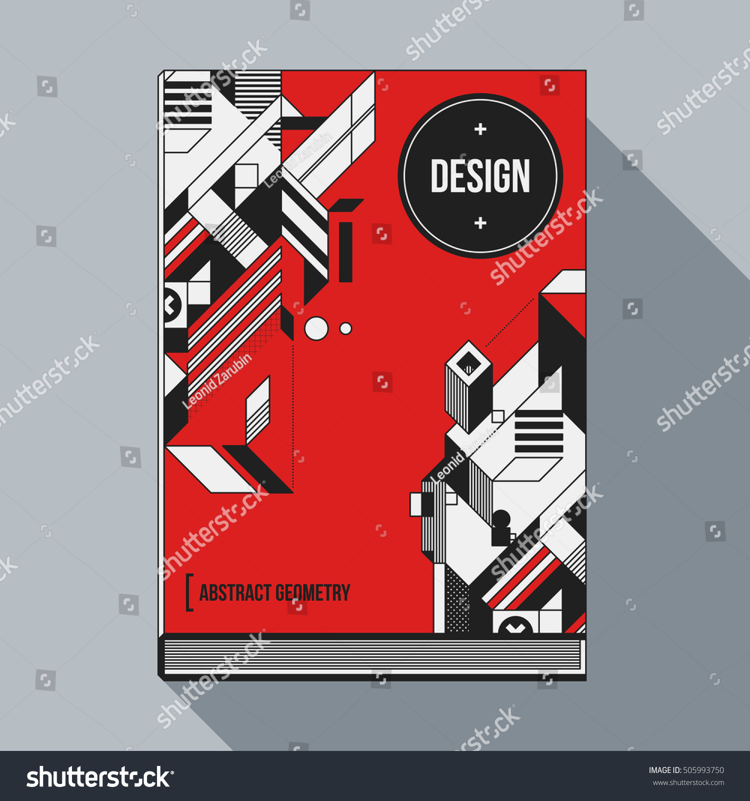 Book Cover Design Elements : Book cover design template abstract geometric stock vector