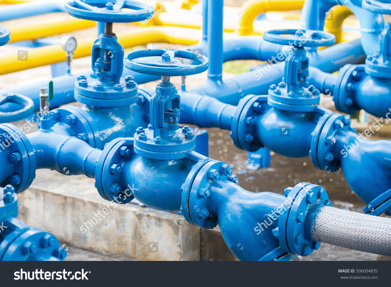 Valves Gas Plant Pressure Safety Valve Stock Photo & Image (Royalty ...