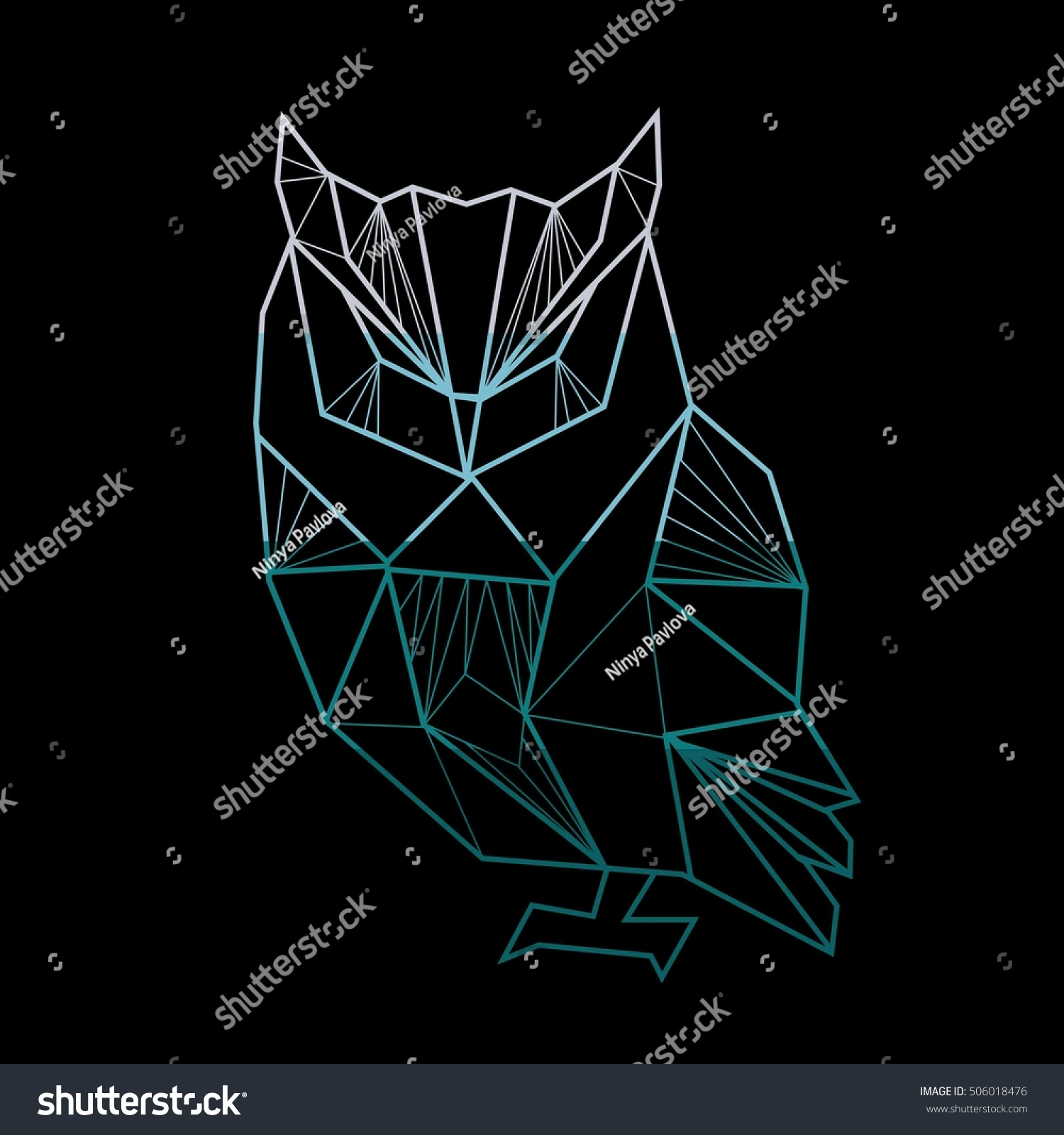 Vector Polygonal Illustration Geometric Owl Gradient Stock ... - photo#21