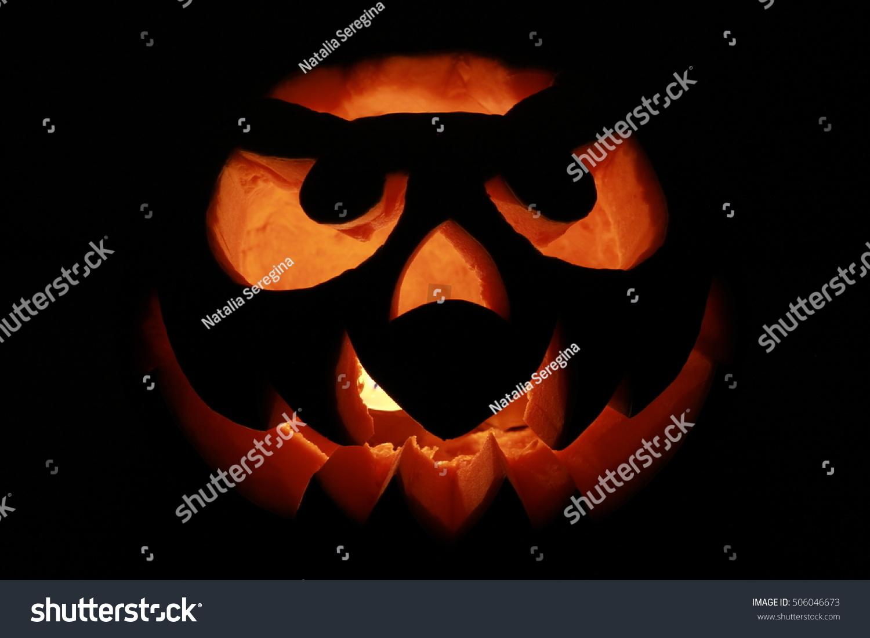 funny halloween pumpkin isolated on black stock photo edit now