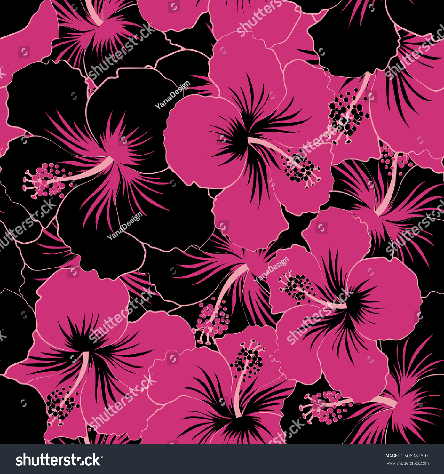 Floral Seamless Pattern Bright Summer Flowers Stock Illustration