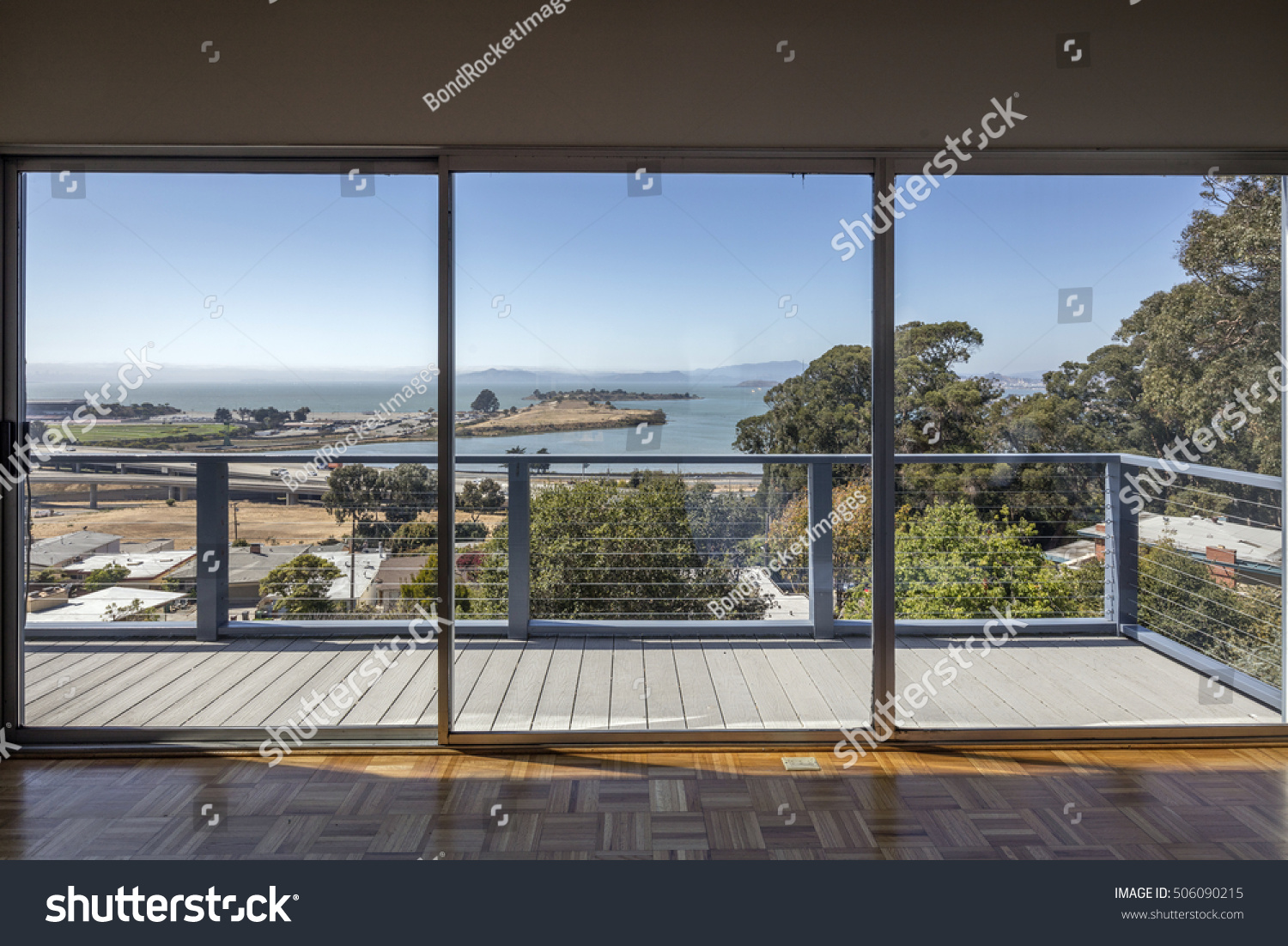 Large Clean Glass Sliding Doors Bay Stock Photo Edit Now 506090215