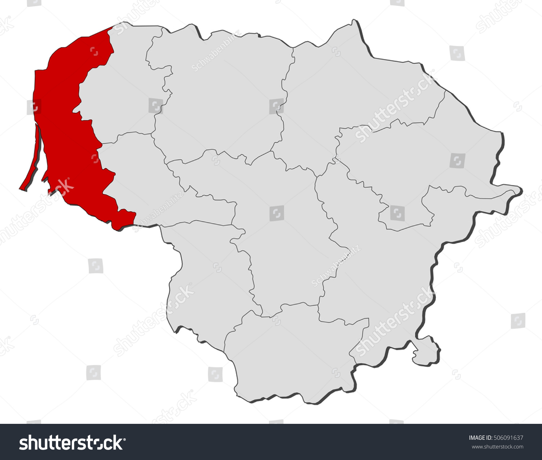 Map Lithuania Klaipeda Stock Vector Shutterstock - Klaipėda map