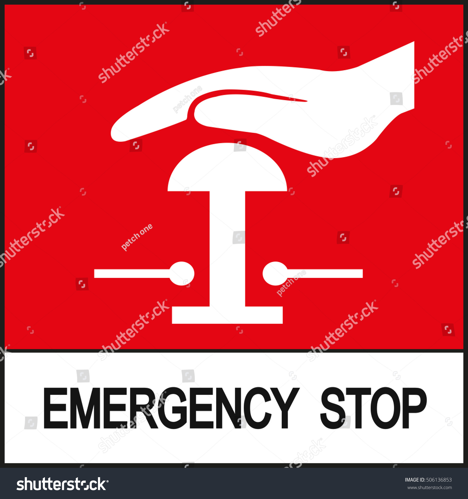 Emergency stop icon clipart emergency off - Emergency Stop Sign