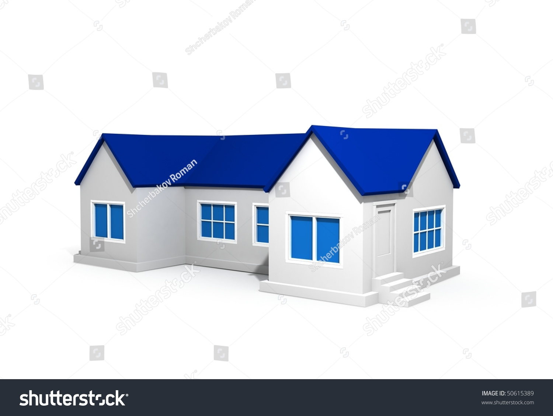long house blue roof stock illustration 50615389 shutterstock