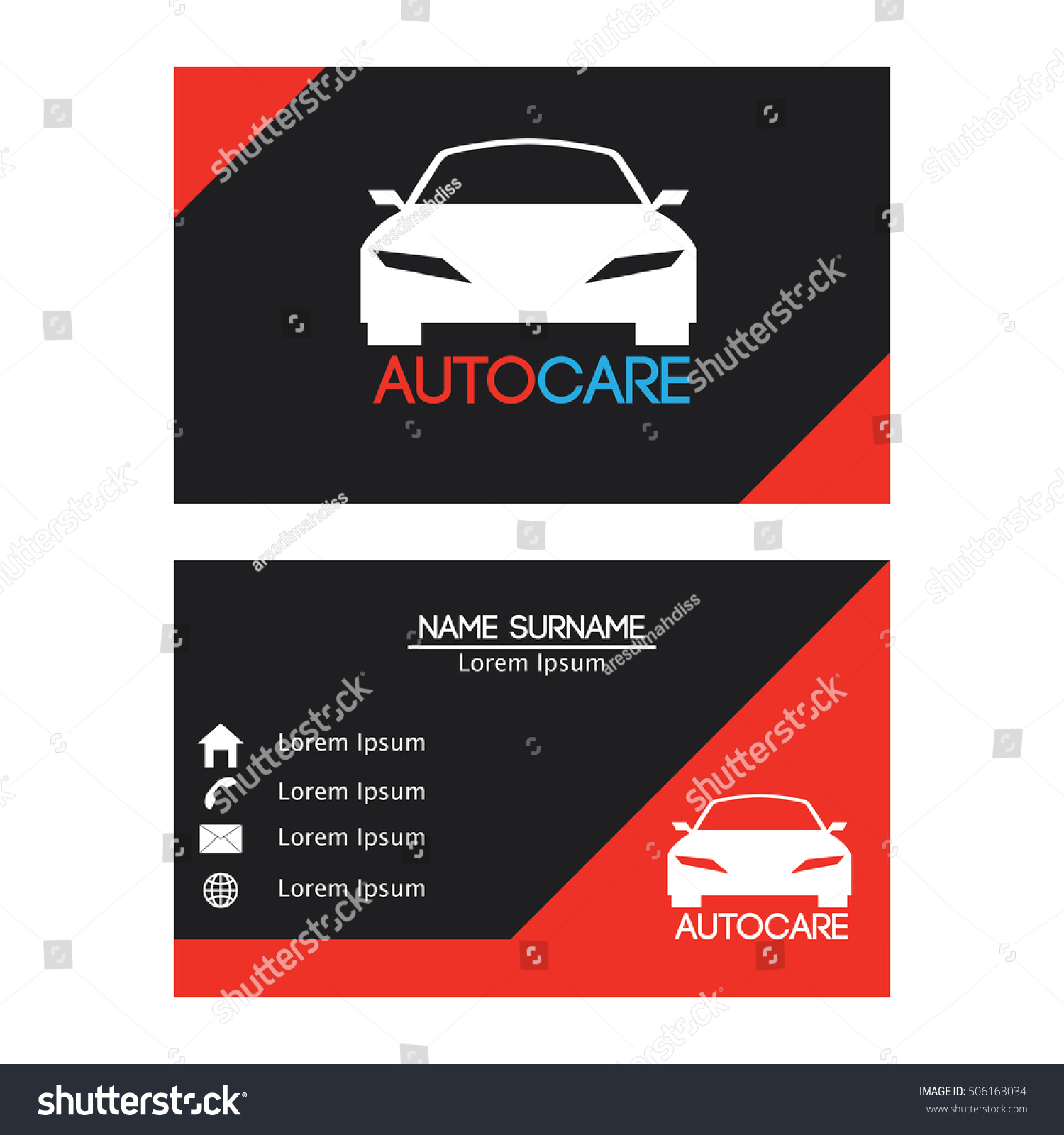 Auto car business card design template stock vector 506163034 auto car business card design template for your business magicingreecefo Images