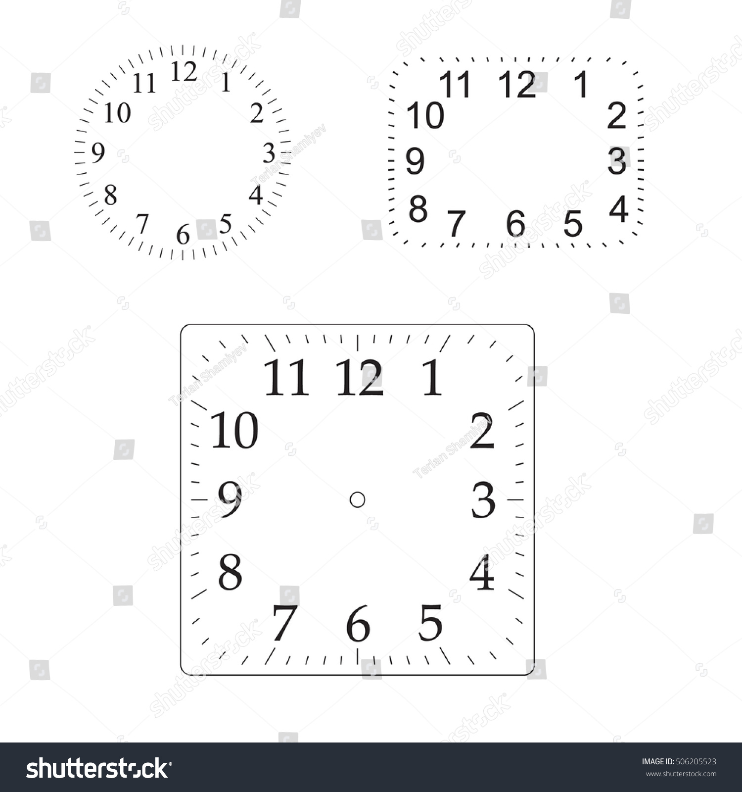 worksheet Number Line Without Numbers vector simple classic clock icon without stock 506205523 numbers with solid and flat color design