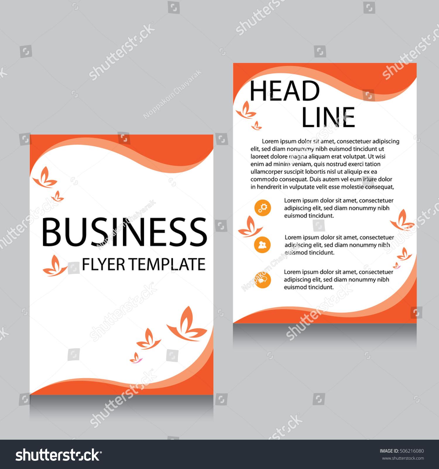 Brochure Flyer Design Layout Template Front Stock Vector 506216080 ...
