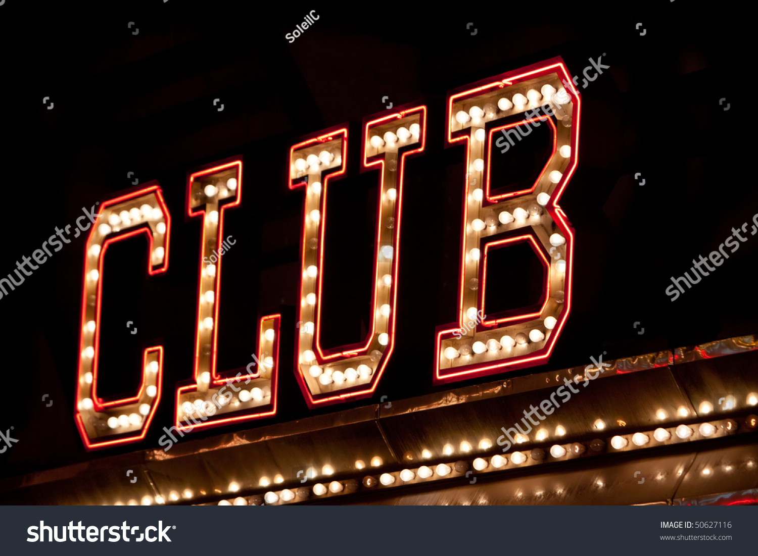 Neon Lights Club Sign Stock Photo 50627116 - Shutterstock