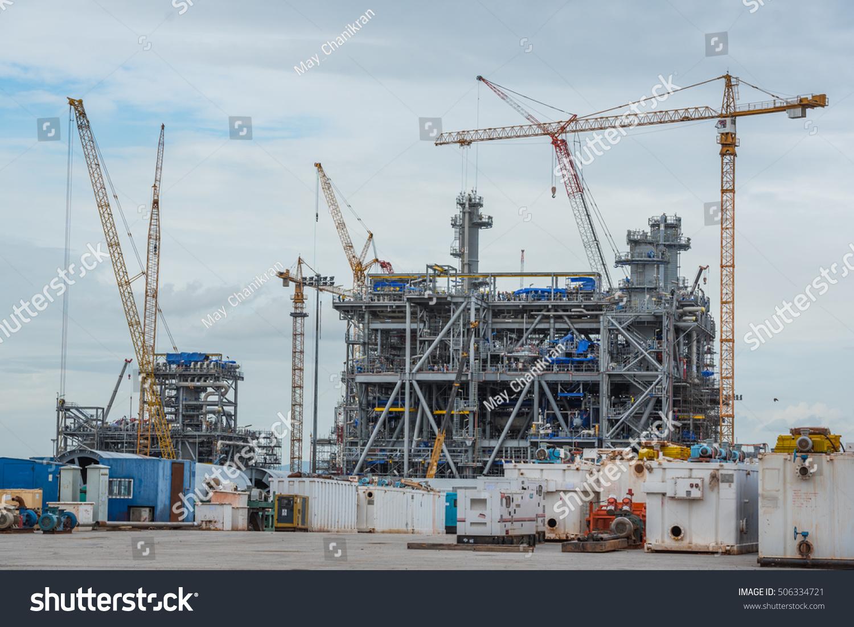 Petrochemical Plant Construction Stock Photo (Edit Now
