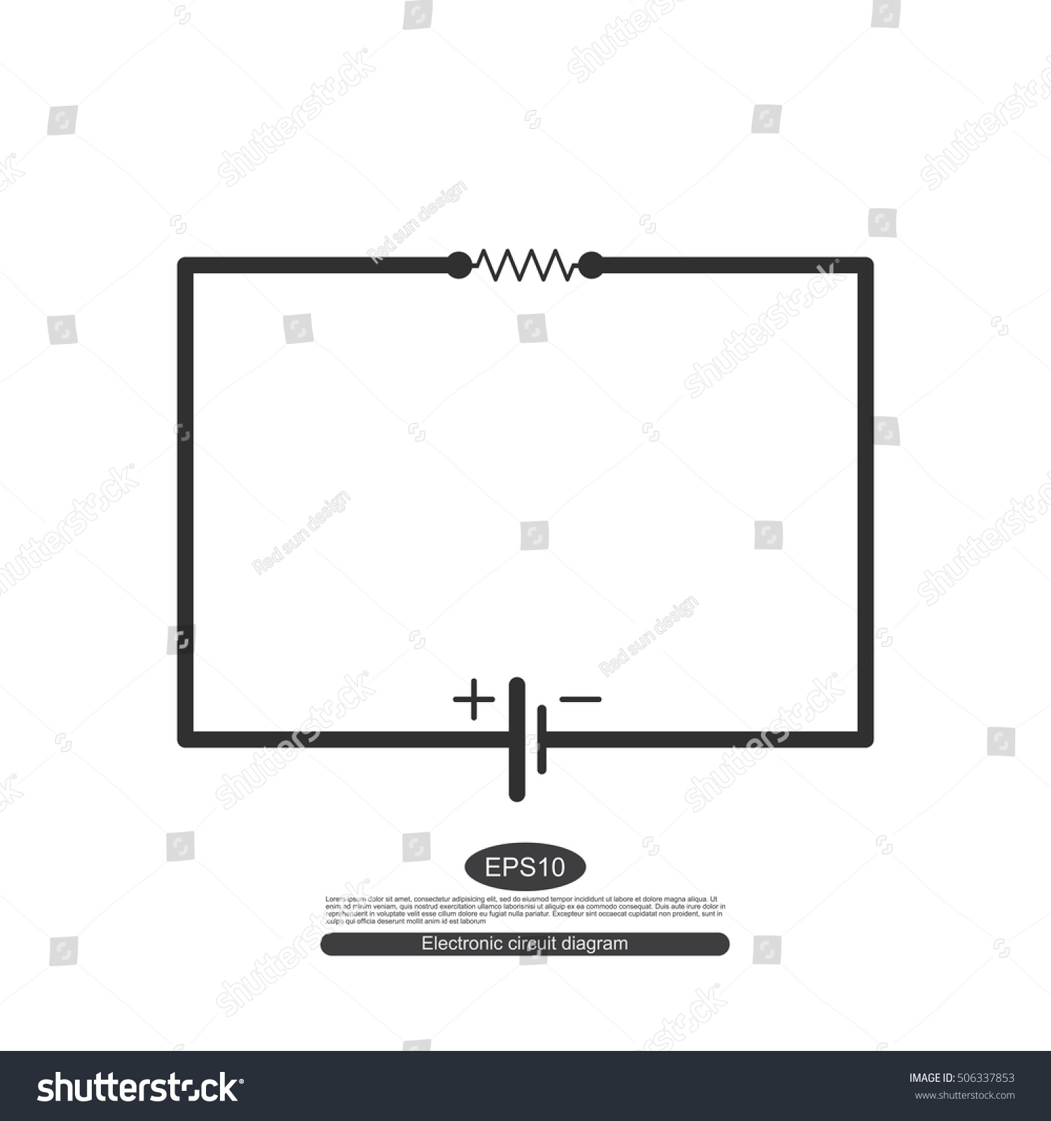 Electronic Symbols Learning Basic Electrical Circuits Stock Vector Of Circuit Design For The Parallel Consists A Source
