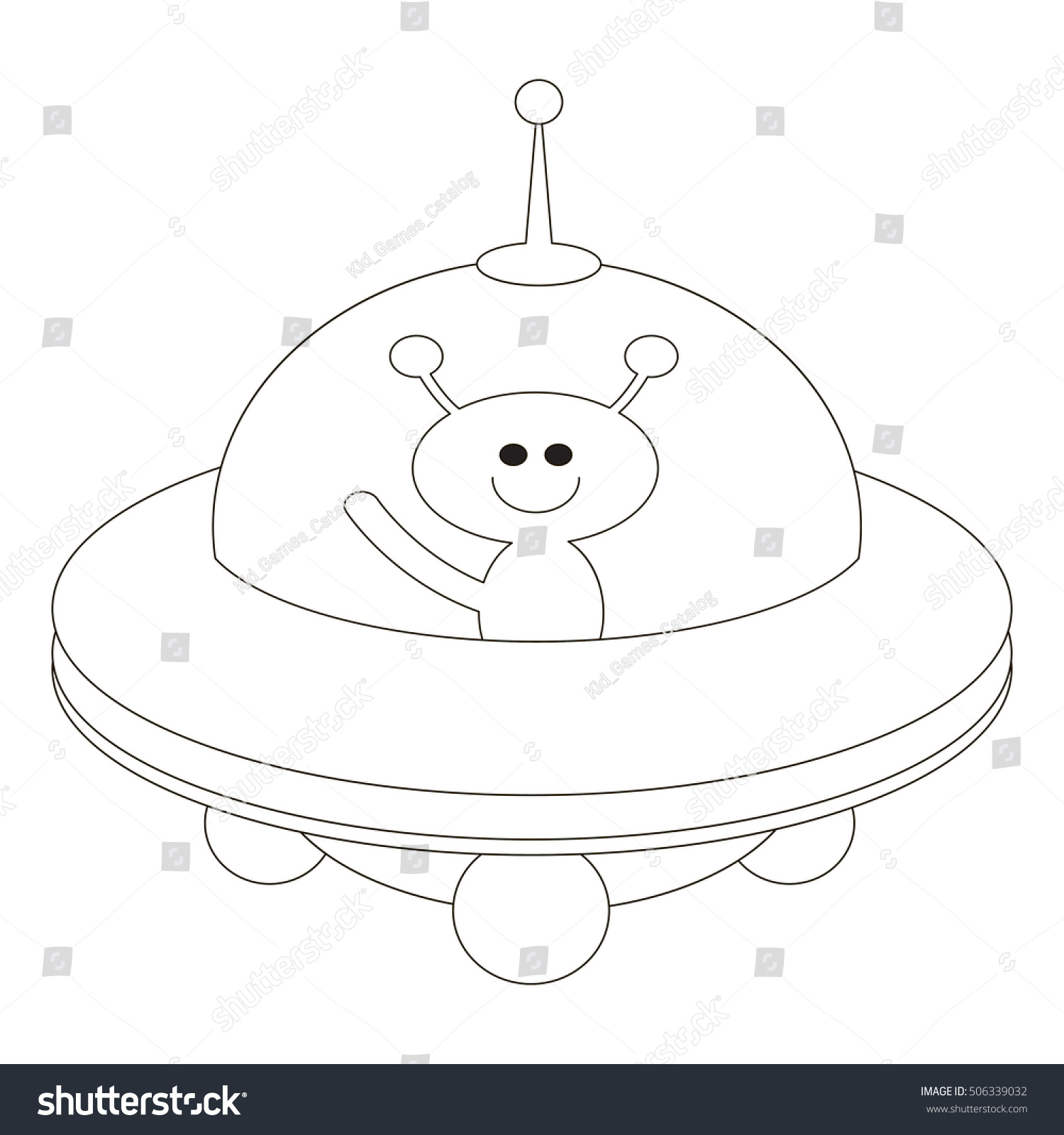 Ufo Be Colored Coloring Book Educate Stock Vector Royalty Free