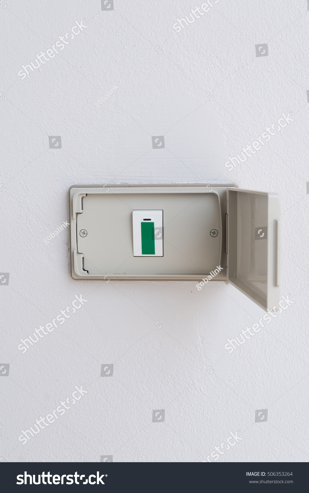 Weatherproof outdoor light power switch on the wall | EZ Canvas