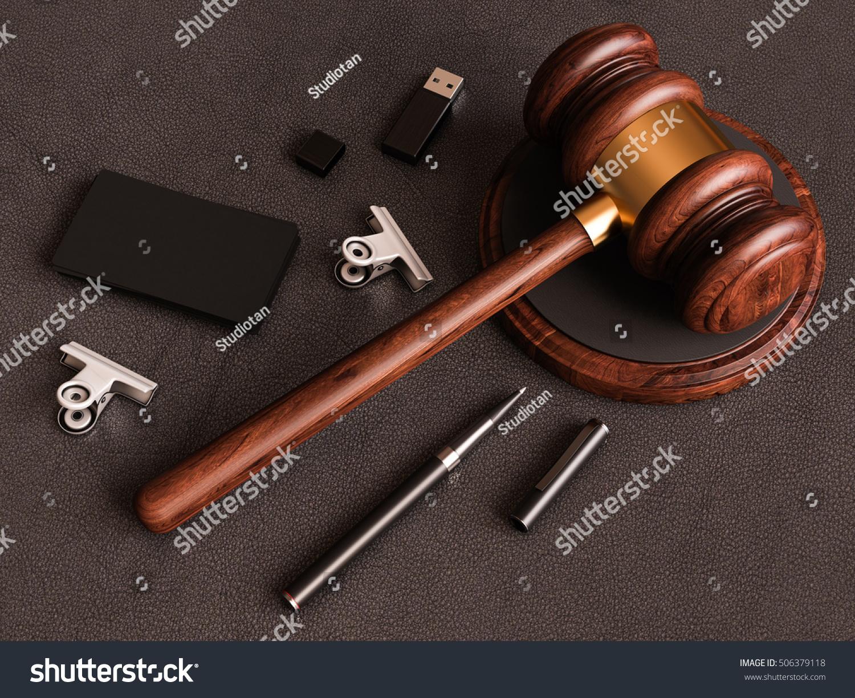 Judges Gavel Smartphone Business Card On Stock Illustration ...