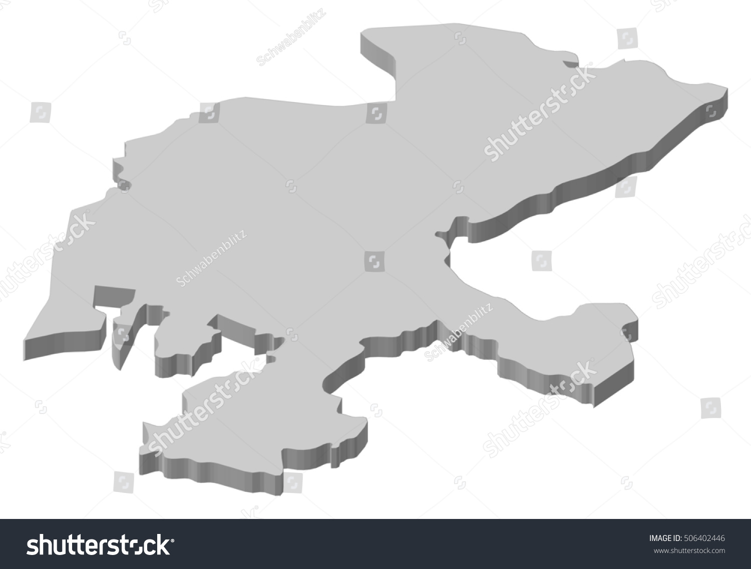 Map Zacatecas Mexico 3dillustration Stock Vector (Royalty Free ... on