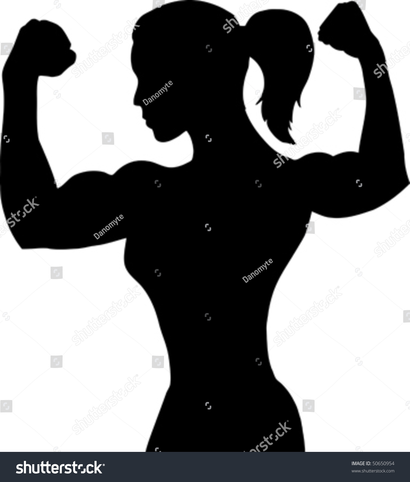 ponytail clipart