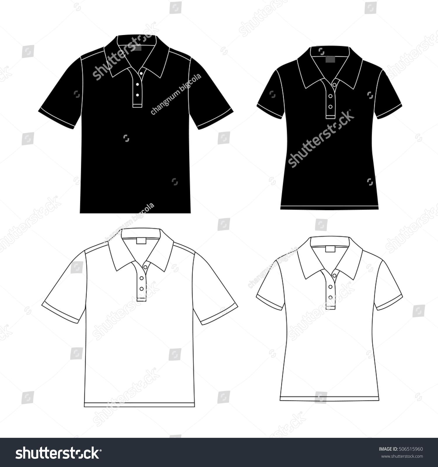 Shirt design vector pack - Set Of Vector Polo Shirt Design