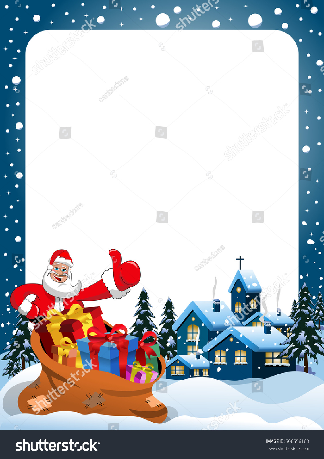xmas frame santa claus thumb christmas stock vector 506556160