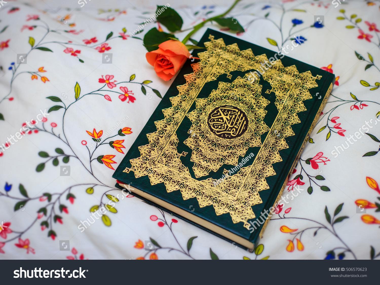 Quran and rose