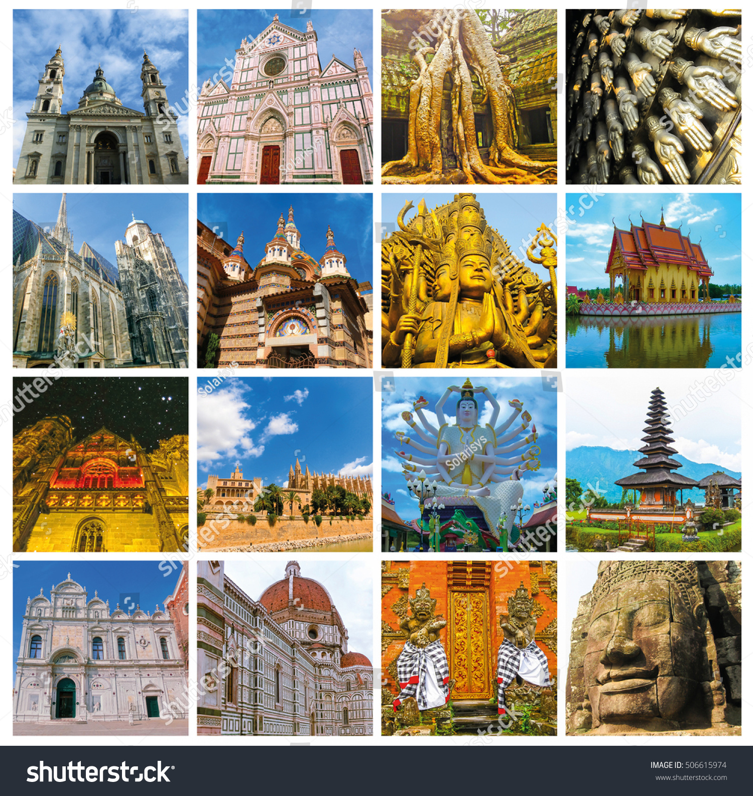 Royalty Free World Monuments Collage