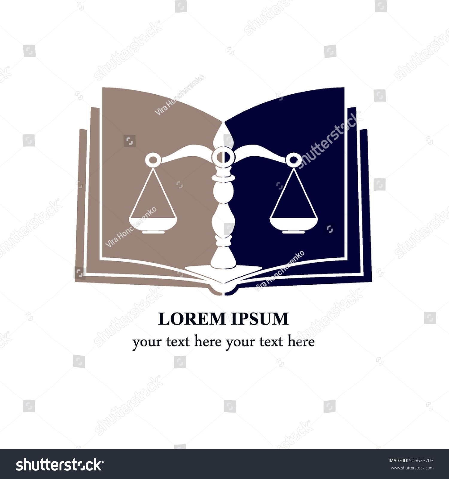 Symbol Law Justice Concept Law Justice Stock Vector Royalty Free