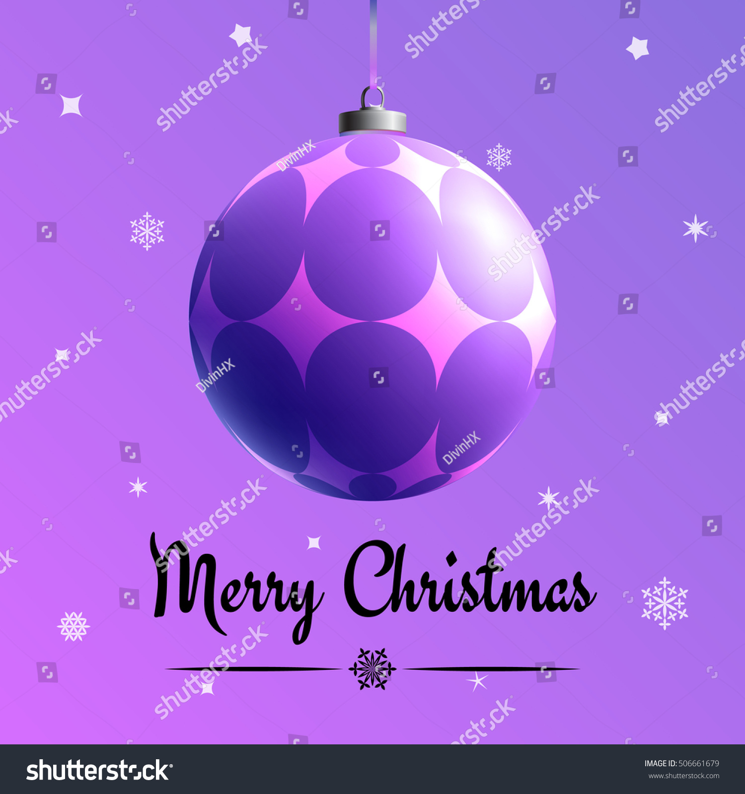Xmas Concept Christmas Greeting Card Multicolor Stock Vector