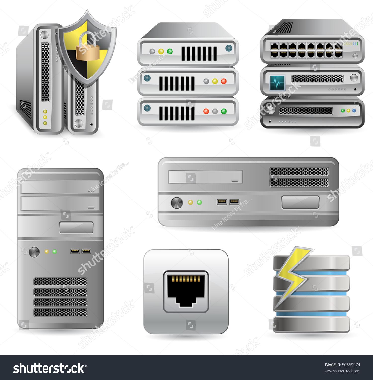 Network Equipment Set Network Firewall Router Stock Vector ...